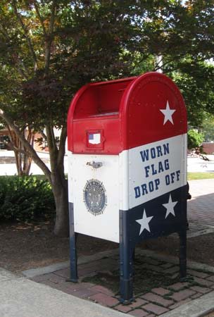 American Flag Recycling Box