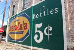 Restored Chero-Cola mural sign