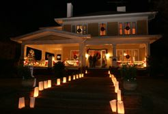 house with luminaries