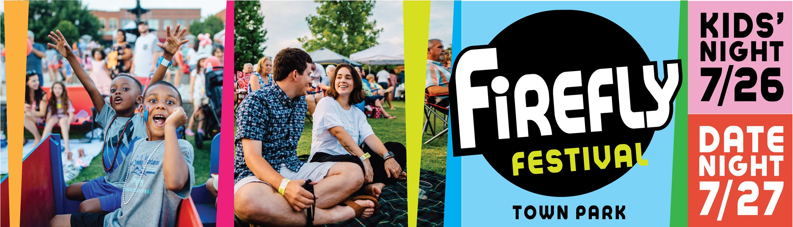 Kids and adults at the Firefly Festival