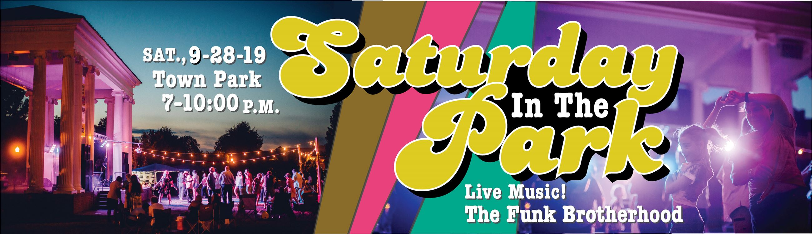 Saturday in the Park dance logo