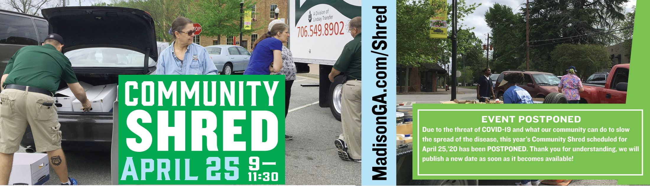 Community Shred Postponed