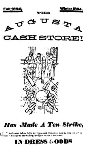 Augusta Cash Store advertisement