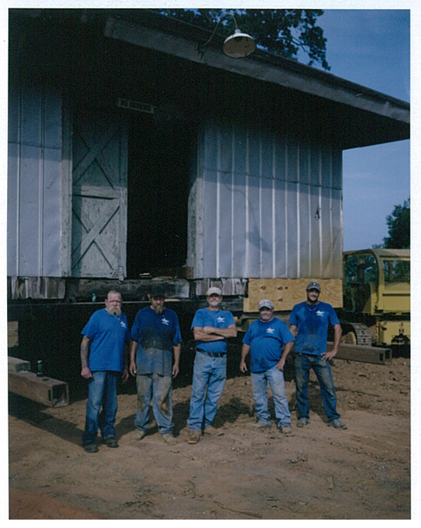 Central of Georgia Depot Moving Crew