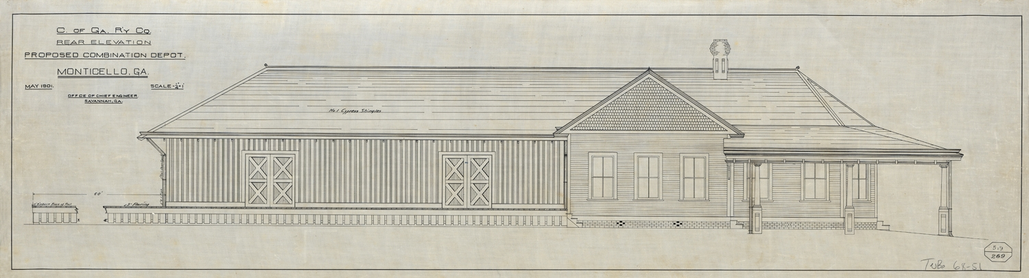 Central of Georgia Depot - Original Elevations & Plans