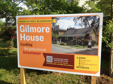 Gilmore House_Project Sign